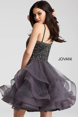 54414 Charcoal   Pink   White back
