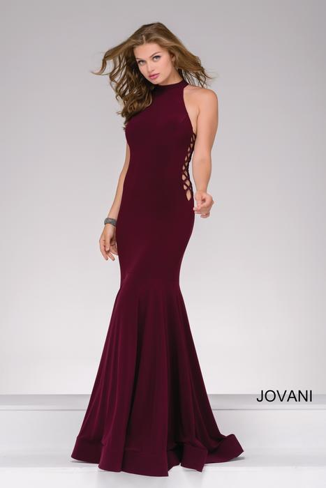 Jovani Prom Romantic side plunge with racer back