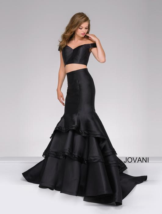 Jovani Prom Two Piece Off the Shoulder Mermaid
