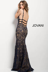 50923 Navy/Nude back