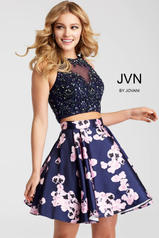 JVN47306 Navy/Print front