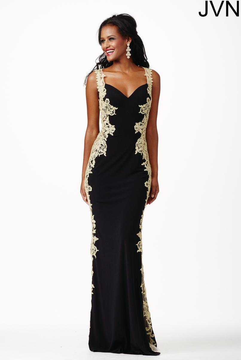 Jovani Black Dress With Crystals