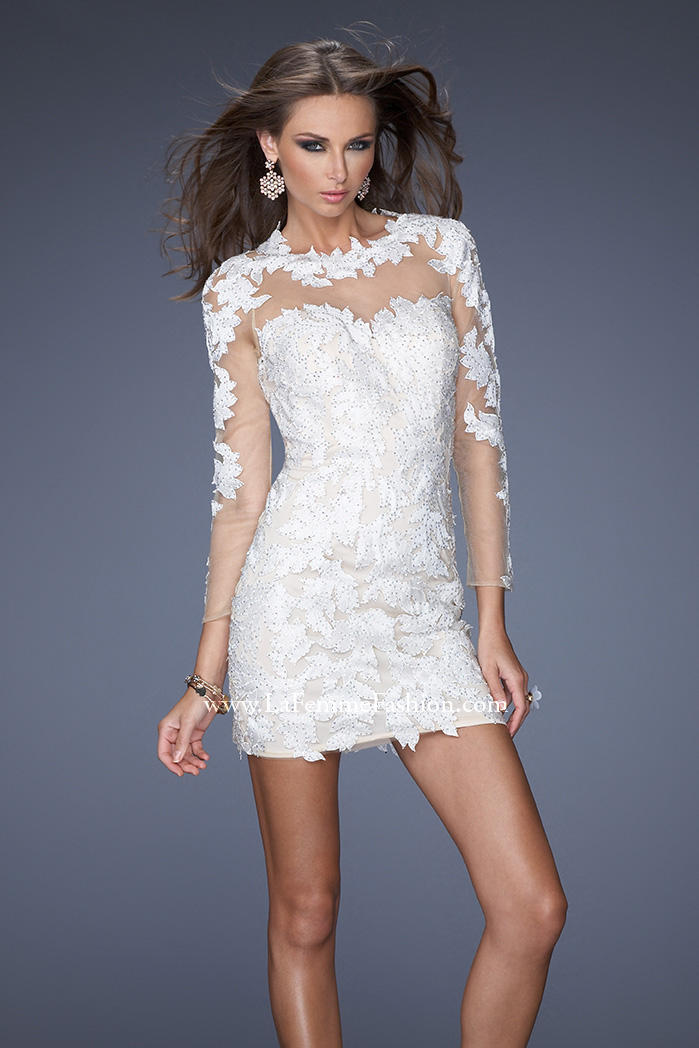 Tj formal dress channel winter white in your holiday