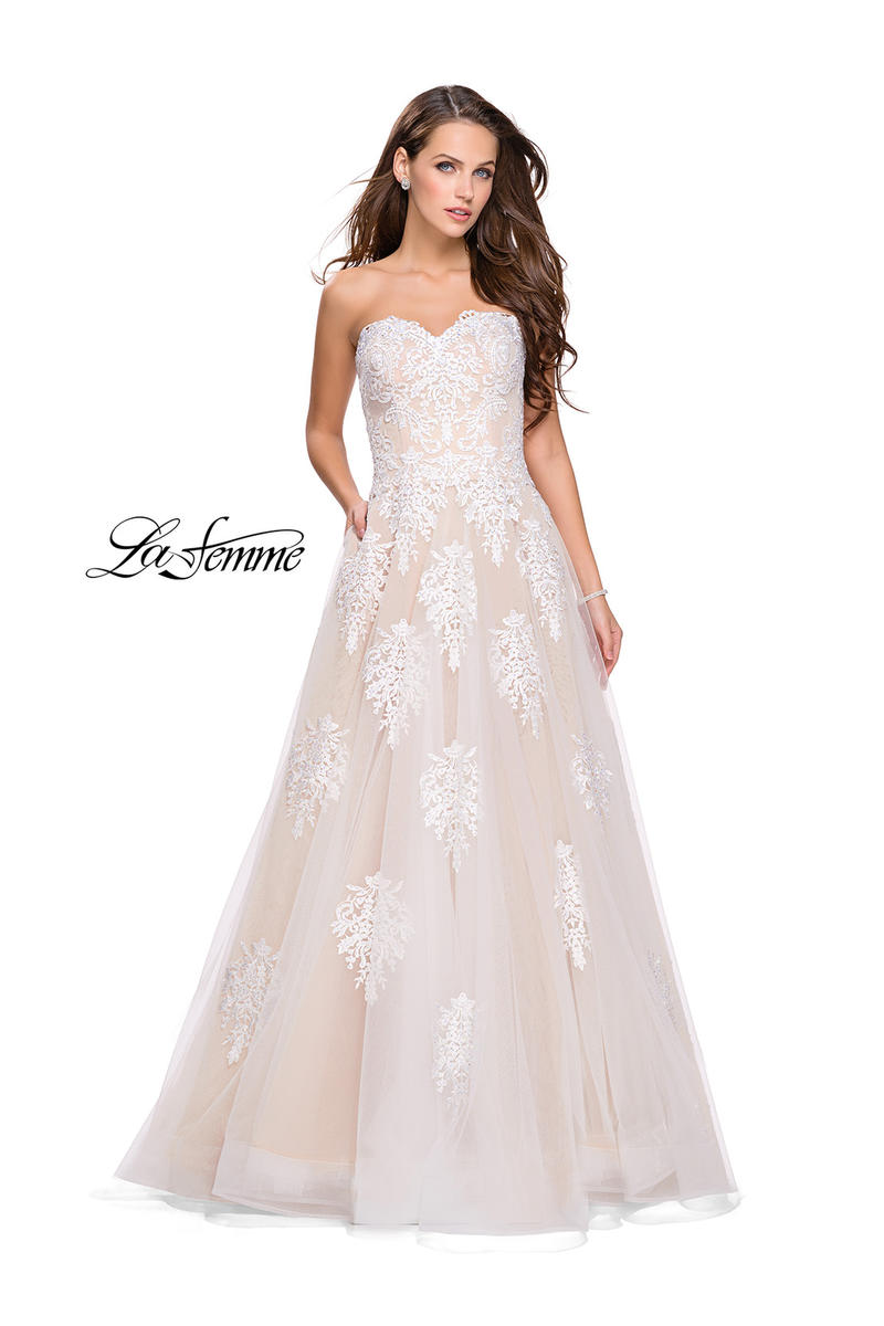 4dd0066847 La Femme 25560 La Femme Prom Susan Rose Gowns and Dresses-Fort ...