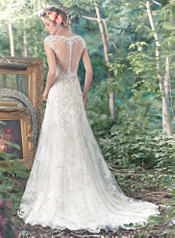 Tami-6MN277 Ivory Over Champagne/Pewter Accent back