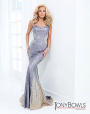 Strapless Sequins