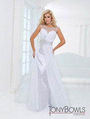 TBE11440 Sweetheart Sheer Neckline