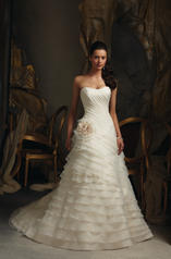 Asymmetrical Tiered Organza