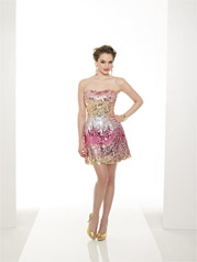 Sequin Strapless