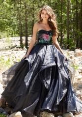 99006 Black Floral front