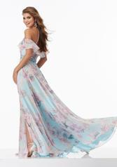 99024 Blue Floral back