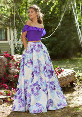 99045 Blue Floral front