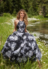 99060 Black/White Floral front