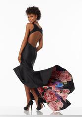 99066 Black Floral back