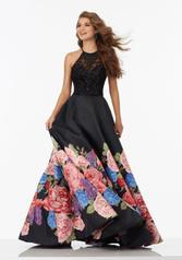 99067 Black Floral front