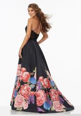 99067 Black Floral back