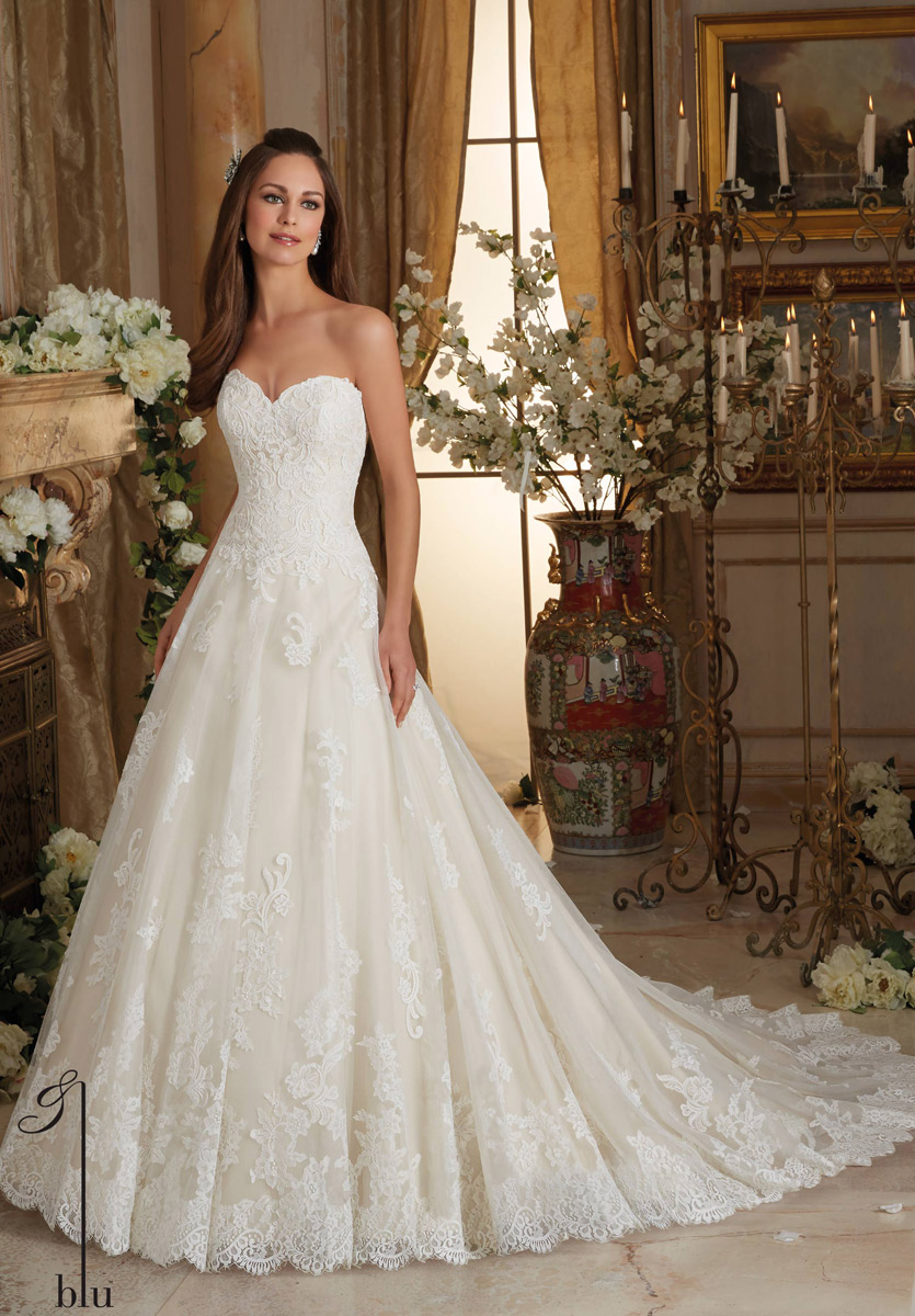 Blu bridal by mori lee 5473 blu bridal collection by for Largest selection of wedding dresses