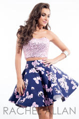 4233 Lilac/Navy detail