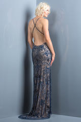 48557 Navy/Nude back