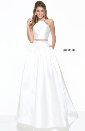 Long Halter Neck Two-Piece Sherri Hill Prom Dress
