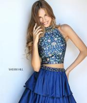 51040 Navy Print front