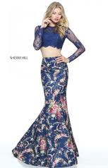 51064 Navy Print front