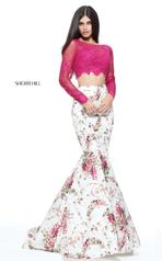 51064 Plum/Ivory Print front