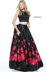 51100 Black/Red Print front