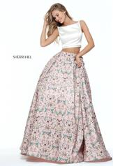 51123 Ivory/Pink Print front