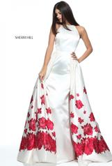 51193 Ivory/Red Print front