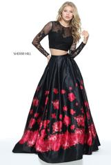 51195 Black/Red Print front