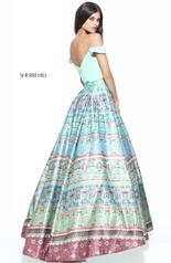 51204 Blue/Green Print back