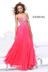 Strapless Chiffon Beaded