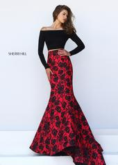 50127 Black/Red Print front