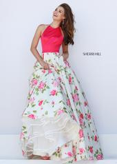 50231 Coral/Ivory Print front
