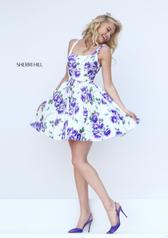 50369 Ivory/Purple Print front