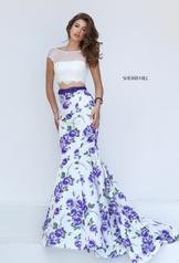 50421 Ivory/Purple Print front
