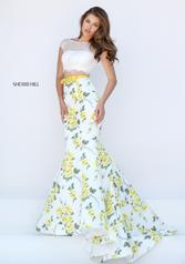 50421 Ivory/Yellow Print front