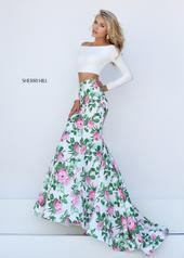 50433 Ivory/Pink Print front