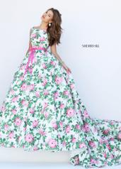50484 Ivory/Pink/Green Print front