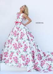 50484 Ivory/Pink Print front