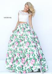 50492 Ivory/Pink Print front
