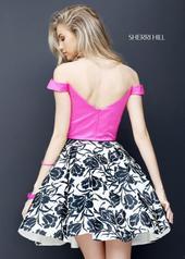 50545 Fuchsia/Ivory/Black back