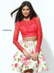 50563 Coral/Ivory Print front