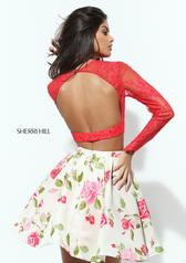 50563 Coral/Ivory Print back