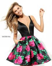 50596 Black/Fuchsia Print front