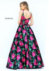 50598 Black/Fuchsia Print back