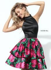 50721 Black/Fuchsia Print front