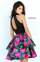 50721 Black/Fuchsia Print back