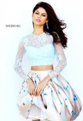 50764 Light Blue/Nude Print front